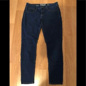 Juniors Dark Wash Jeggings like new.